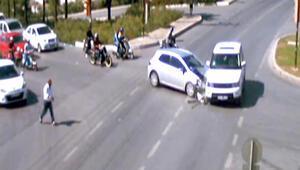 Bodrum'da trafik kazaları MOBESE'de
