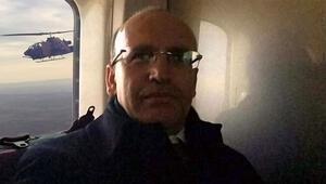 Mehmet Şimşek yerli helikopter ile selfie çekti