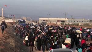 BM: On binlerce insan Türkiye sınırında toplandı