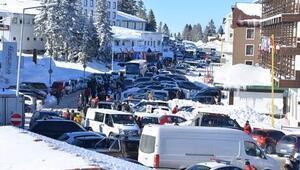 Tatilciler Uludağ'dan dönüyor