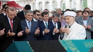 Erdoğan, Gül ve Davutoğlu cenazede bir araya geldi