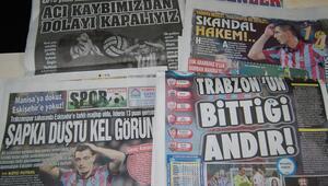 Eskişehirspor yenilgisi, Trabzon yerel basınını üzdü