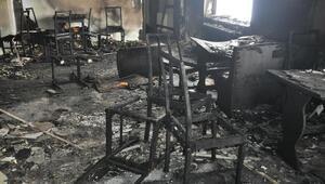 Muşta kayak merkezindeki kafeterya yakıldı