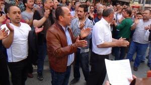 Çaycuma'da Pazarcılar Eylem Yaptı