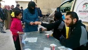 İMKANDERin Suriyelilere yardımları sürüyor