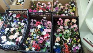 Engelliler özel günler için çiçek hazırlıyor