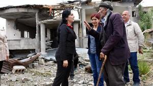 Yüksekovada zarar komisyonları önünde uzun kuyruklar oluştu(2)