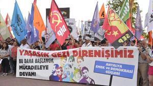Antalya'da Gezi'nin yıldönümünde polisten müdahale