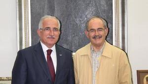 Vali Tunadan Büyükerşene veda ziyareti