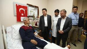 Ali Babacan yaralıları ziyaret etti: Türk ekonomisinin temelleri güçlü
