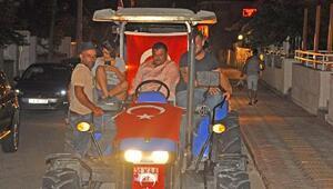 Çiftçilerden demokrasi konvoyu