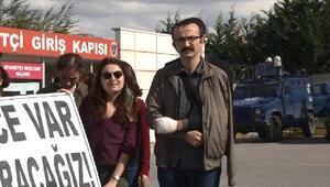 Avukatlardan cezaevi önünde eylem