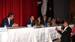 Berhan Şimşek ve Tayfun Talipoğlu halk gününe katıldı