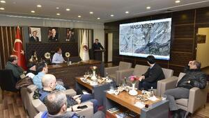 TOKİ heyeti 528 konutun inşaat alanında incelemede bulundu