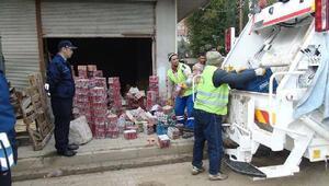 İslahiye'de, kullanım tarihi dolan 1 ton gıda imha edildi