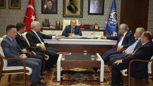 TOKİ Başkanı Turan, Başkan Gümrükçüoğlu'nu ziyaret etti