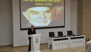 Prof. Dr. Sabahattin Zaim vefatının 9uncu yılında anıldı