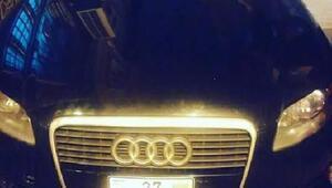 Azerbaycan plakalı araç polisi alarma geçirdi