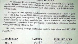 Suruç'taki düğünlerde siyasi parça çalma yasağı