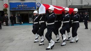 Şehit polis Datlı için İstanbul Emniyet Müdürlüğünde tören düzenlendi (1)