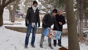 Belediye, sokak hayvanları için yem bırakıyor