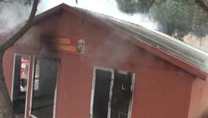 Maltepede halk kütüphanesinde yangın