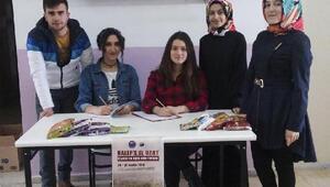 Öğrencilerden Halep'e yardım eli