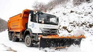 Büyükşehirin kırsalda kar mücadelesi
