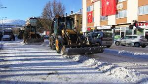Bayburt Belediyesi'nden karla mücadele seferberliği
