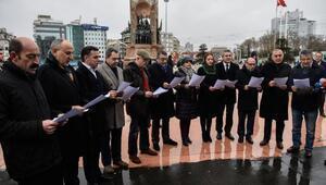 Taksimde CHPli milletvekillerinden basın açıklaması