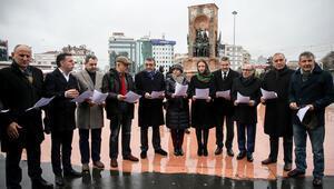 Taksim'de CHP'li milletvekillerinden basın açıklaması