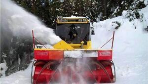 Çankırıda 5 bin kilometre yol kardan temizlendi