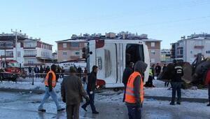 Cihanbeylide öğrenci servisi devrildi: 2 ölü, 43 yaralı (2)- yeniden