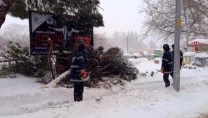 Bigada ekiplerin aralıksız kar mesaisi sürüyor