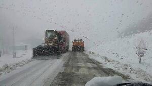Amasyada kar yağışı etkili oldu