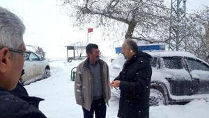 Çiftlikköyde karla mücadele