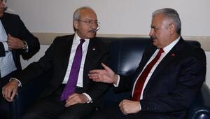 Başbakan Yıldırım ve CHP lideri Kılıçdaroğlu Mecliste görüştü (Tekrar)