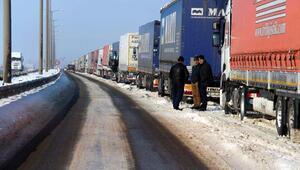 Bulgaristan ve Yunanistana açılan kapılarda TIR kuyruğu