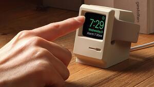 Apple Watchlar için Macintosh görünümlü şarj cihazı