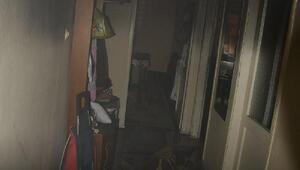 Sinopta evde çıkan yangın korkuttu