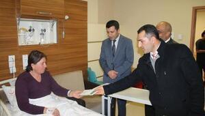 Adıyaman'da, din görevlilerinden hastalara ziyaret