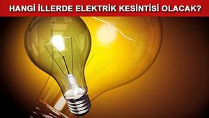 İstanbulda haftasonu hangi ilçelerde elektrik kesilecek Hangi illerde elektrik kesilecek