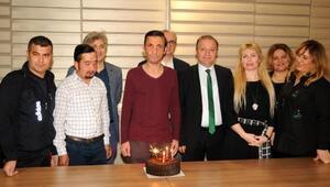 Uğur Acarın 5inci nakil yaşına pastalı kutlama