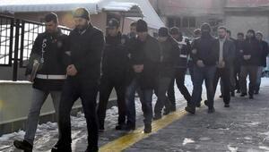 Kütahyada FETÖ şüphelisi 8 polis adliyede