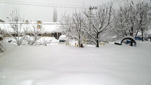Beytüşşebapta tüm köy yolları kardan kapandı