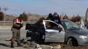 Çorumda trafik kazası :1 ölü, 6 yaralı