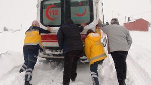 Ambulans, kara sağlandı