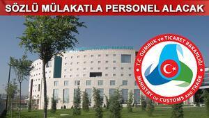 Gümrük ve Ticaret Bakanlığı (GTB) memur alımı gerçekleştirecek