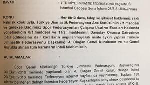 Türkiye Cimnastik Federasyonu Genel Kuruluna iptal davası açıldı