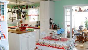Mutfakta vintage stil